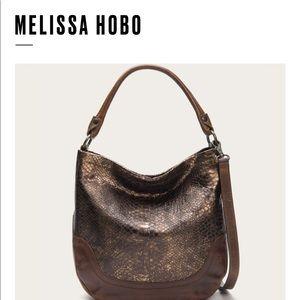 Frye snake embossed Melissa Hobo (Bronze)